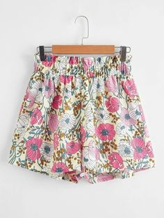 ((Affiliate Link)) Description Style:	Boho Color:	Multicolor Pattern Type:	Floral, All Over Print Details:	Frill, Paper Bag Waist Type:	Wide Leg Season:	Summer Composition:	100% Polyester Material:	Polyester Fabric:	Non-stretch Sheer:	No Fit Type:	Regular Waist Type:	Mid Waist Closure Type:	Elastic Waist