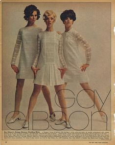 ADSAUSAGE - vintage advertising. Regine Jaffrey, Cay Sanderson and Colleen Corby.