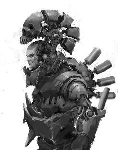 """Concept of exosuit """"Skull-09"""", Николай quiklo on ArtStation at https://www.artstation.com/artwork/r20PL"""
