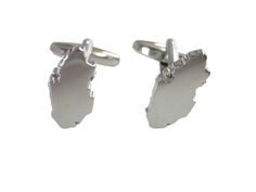 Qatar Map Shape Cufflinks