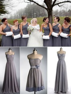 Trendy Bridesmaid Dresses for Christmas/Holiday Winter Wedding