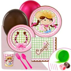 Pink Cowgirl Value Party Pack has everything you need for your Sheriff Callie party