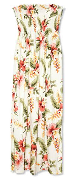 Cloud Maxi Smocked Hawaiian Dress