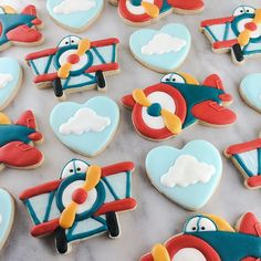 """""""You're so fly, Valentine""""  Working on new set of #aviation themed cookie cutters. #timeflieswhenyourehavingfun #getit? #flies #airplanecookies #decoratedcookies #royalicing #customcookiecutters #customcookies #ValentinesDay"""
