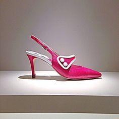 Scarpe MILLA' Pelle Chanel Art. Alba Rosso/Bianco