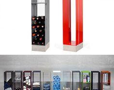 Manhattan Cabinet. Cornelia Norgreen ha realizzato Manhattan, un armadio in ferro minimalista e molto versatile, adatto a ogni ambiente della casa, personalizzabile con ripiani opzionali. Via swiss-miss.com