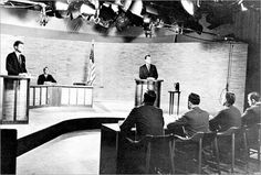 In the first televised U.S. presidential debate in history, John F. Kennedy comes off well. His opponent, Richard Nixon, does not. Television instantly emerges as the decisive medium in presidential politics.