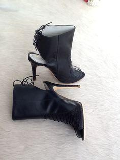 Ankle Boot em pelica e Python Marché D'Arty.