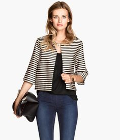 Cropped jacket with stripes. #WARMINHM