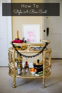 How To Decorate A Bar Cart @Kristy Bradfield Petlin Judy garlands!