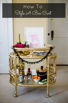 How To Decorate A Bar Cart @Kristy Bradfield Petlin Judy garlands!