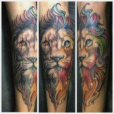 Tatuagem feita por @artnewtattoo! Que nota você dá para essa tattoo? #leao #lion… More