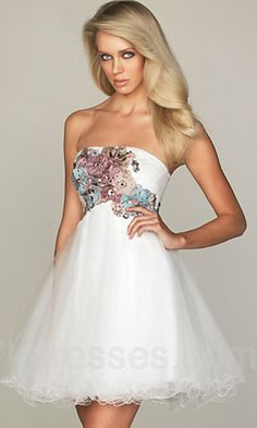 White Straight Floral