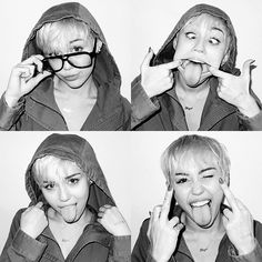 Miley Cyrus Photoshoot black and white