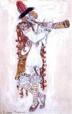A guy who plays the horn - Nikolái Roerich