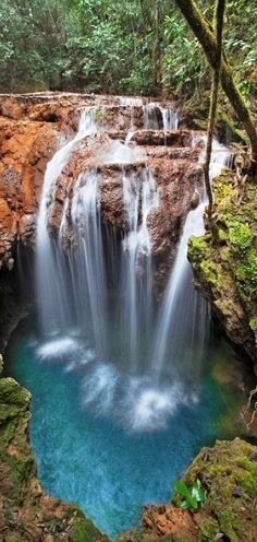 Breathtaking Places Around the World - Monkey's Hole Waterfall, Brazil Beautiful Waterfalls, Beautiful Landscapes, Natural Waterfalls, Places To Travel, Places To See, Travel Destinations, Beautiful World, Beautiful Places, Amazing Places