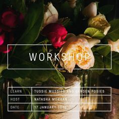 DID YOU KNOW IF YOU BOOK WITH A FRIEND YOU RECEIVE AN ADDITIONAL 15% OFF THE EARLY BIRD RATE! (Just send me a message and I'll send you a discount code to apply at checkout) We have 4 places left for our 'Tussie mussies and garden posies' workshop on Sunday 17 January 2016. This is a day in the Oak and Monkey Puzzle cut flower garden learning about my favourite seasonal flowers why I love them and how to use them the art of Tussie Mussies and fragrant garden posies and much much more…
