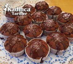 Çikolatalı Muffin Tarifi Pasta Cake, Cap Cake, Oven Dishes, Recipe Sites, Pudding Cake, Chocolate Muffins, Turkish Recipes, Macaron, Sweet Cakes