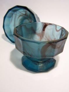 A Vintage Art Deco Satin Glass Bowl Art Glass Davidson ?