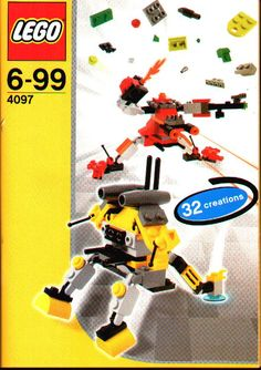 LEGO 4097 Mini Robots instructions displayed page by page to help you build this amazing LEGO Creator set Lego Creator Sets, The Creator, Light Brick, Lego Instructions, Lego Ideas, Toys, Robots, Mini, Activity Toys