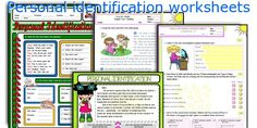Personal identification worksheets