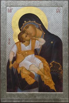 "Step-by-step: Documenting Anthony Gunin's creation of The Most Holy Theotokos ""Glykophilousa"" icon — Steemit Catholic Doctrine, Biblical Art, Artist Portfolio, Madonna, Scripture Art"