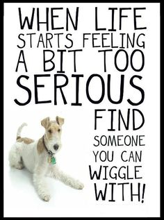 when LIFE starts feeling a bit serious, find someone you can wiggle with!