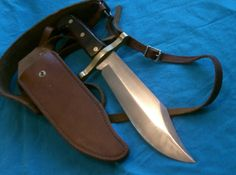 Vintage Western Bowie Knife | BIG ANTIQUE WESTERN W49 SURVIVAL BOWIE KNIFE HUNTING EC Completed