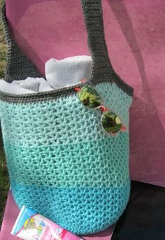 85a79073a35a Beach Bag Market Tote Mint   Tropical Aqua Large bag thick strap for added  comfort READY