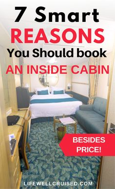 Choosing a cruise cabin is one of the most important decisions to make when planning your cruise vacation. This post shares the best reasons to book an inside cabin, besides the price and cost savings! There are many great things about interior staterooms on cruise ships, that can make them great for couples, solo travelers and families with kids! #cruise #cruisecabins #cruises #cruisetips #traveltips Cruise Excursions, Cruise Destinations, Cruise Port, Cruise Packing Tips, Cruise Travel, Cruise Vacation, Top Cruise Lines, Family Friendly Cruises, Best Cruise Ships