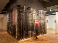 Lenticular Curtain by Plant Architect, A viewer emerges