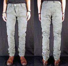 (3) X1 Rnse Grey B1 Wash 12.5 oz Slim Tapered Denim Jeans - Versuchskind Berlin 2014 Spring Summer Mens Collection - Denim Jeans Twist Fit T...