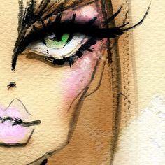 Fashion Illustration Sketches, Love Illustration, Charcoal Art, Fashion Art, Fashion Drawings, Whimsical Art, Face Art, Doodle Art, Art Inspo