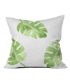Deny Designs Wonder Forest Pillow | Accessorize a rattan chair with this palm leaf pillow to create a beachy-casual sitting area. Not quite the style you were looking for? Deny Designs features artist-made products in a plethora of options that are sure to suit your taste.