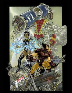 Wolverine, Storm, Colossus