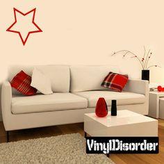 Star OC Wall Decal - Vinyl Decal - Car Decal - CF003