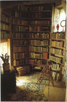 Vita Sackville-West's Tower Library.I want a library tower. Vita Sackville West, Beautiful Library, Dream Library, Library Books, Library Corner, Cozy Library, Future Library, Attic Library, Personal Library