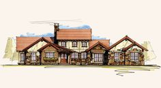 Whitetail   Ranch Style Home Designs   Rustic Home Designs