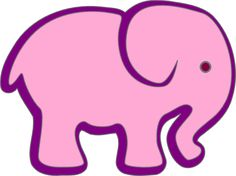 purple elephant   Pink And Purple Elephant clip art - vector clip art online, royalty ...