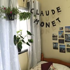 """poeticamenteflor: """"here is my new room!!! i feel like i'm living in monet's garden and i couldn't be more happy. i love my father claude. ig: poeticamenteflor """""""
