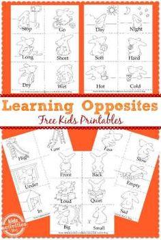 *FREE* Learning Opposites Printables