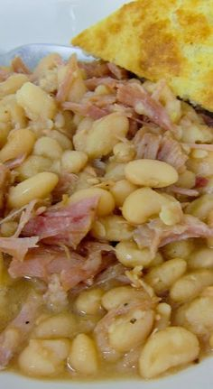 Slow Cooker Ham & White Beans