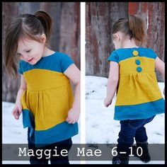 """The """"Claire"""" Top/dress 6m-4T — ShwinDesigns"""
