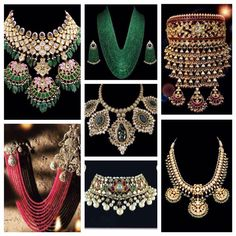 Indian style polki necklace and choker.
