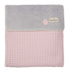 Koeka Babydecke Waffel/Teddy Oslo, baby pink/pebble