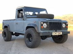 Bid for the chance to own a 1989 Land Rover 110 Turbodiesel Pickup at auction with Bring a Trailer, the home of the best vintage and classic cars online. Landrover Defender, Land Rover Defender Pickup, Old Ford Trucks, Lifted Chevy Trucks, Pickup Trucks, Trucks For Sale, Cool Trucks, Land Rover Pick Up, Overland Truck