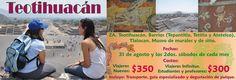 Acompáñanos en esta aventura donde conocerás Teotihuacan de una forma diferente, de una forma completa, recorriendo con un guía especializado toda la zona arqueológica más sus barrios escondidos donde se encuentra una riqueza de murales y pintura que pocos conocen. Esta visita la terminaremos con una exquisita comida tradicional acompañada de una degustación de Pulque o Mezcal.  Itinerario: http://es.scribd.com/doc/162576337/Itinerario-Teotihuacan-2013