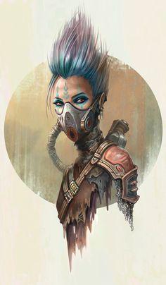 Post Apocalyptic Girl IV, Yasen Stoilov on ArtStation at https://www.artstation.com/artwork/qEDyN