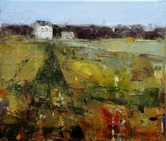 Georganna Lenssen - House on the Hill, 12x14 inches, oil on canvas
