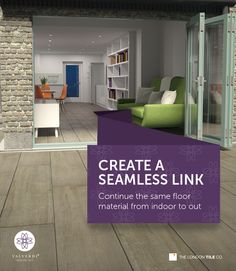 Create a seamless link with Valverdi Indoor-Out porcelain tiles